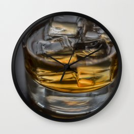 Scotch on the Rocks Wall Clock