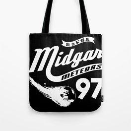 Gamer Geeky Chic FF7 Inspired Midgar Meteors Baseball Style Design Tote Bag