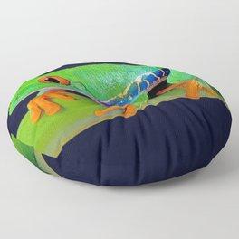 TREE FROG ON BAMBOO Floor Pillow