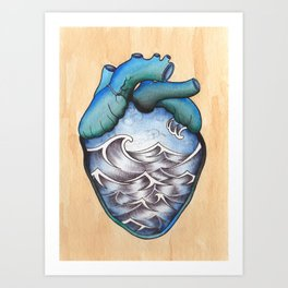 When You Leave Art Print