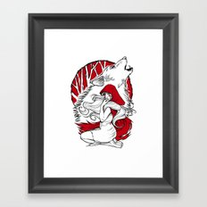 Red riding hood Framed Art Print