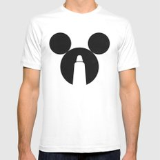The Dark Side of the Mouse MEDIUM Mens Fitted Tee White