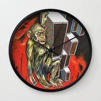 ape Wall Clocks featuring Ape by VikaValter