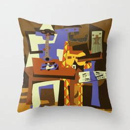 Picasso - The Musician Throw Pillow