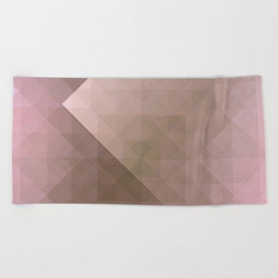 Blush Folded Star Beach Towel