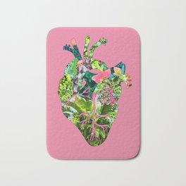 Botanical Heart Pink Bath Mat