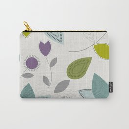 Blue Purple Green Leaves Cutest Pattern Carry-All Pouch