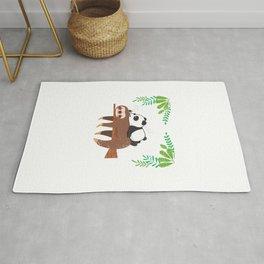 Sloth Panda Rug
