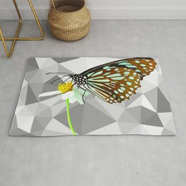 Beautiful Brown Butterfly Rug