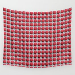 Round and Red 2 Wall Tapestry