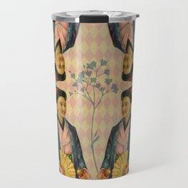 Antique Asian Trade Card Travel Mug