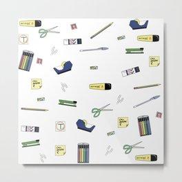 Office Supplies Metal Print