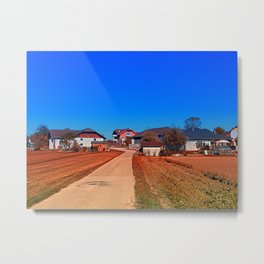 Peaceful countryside village scenery | landscape photography Metal Print
