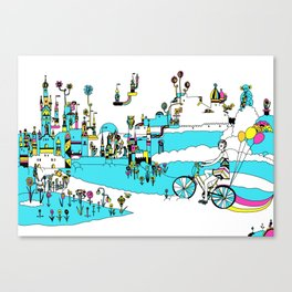 PING PONG SPRING Canvas Print