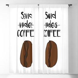 Send Coffee Blackout Curtain