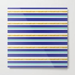 cozumel stripes Metal Print
