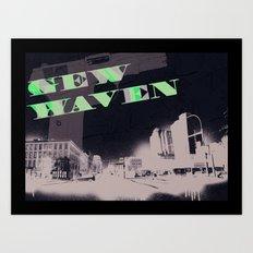 Gun Wavin, New Haven Art Print
