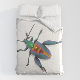 Frog-legged Beetle... Oh-so-shiny! Comforters
