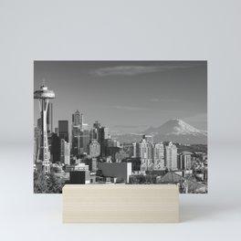 Seattle Winter White Mini Art Print