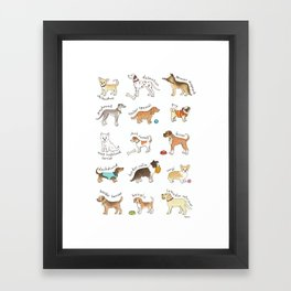 Breeds of Dog Framed Art Print