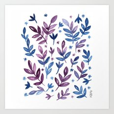 Blue violet Art Print