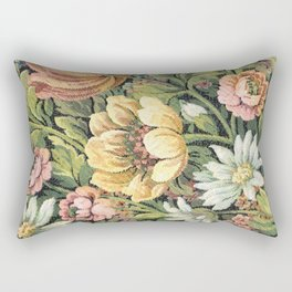 Grandma's Vintage Floral Couch Rectangular Pillow