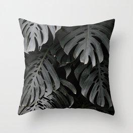 split leaf philodendron Throw Pillow