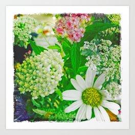 Summer Flower Bouquet Art Print