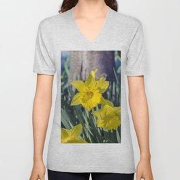 Yellow Daffodils Unisex V-Neck