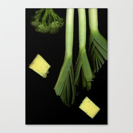 Leeks and Cheese Canvas Print