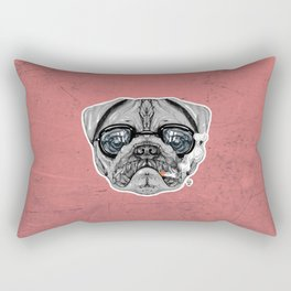Intelectual Pug Rectangular Pillow