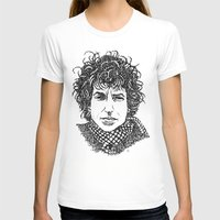 bob dylan T-shirts featuring Bob Dylan by The Curly Whirl Girly.