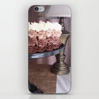 cake iPhone & iPod Skins featuring Cake by Pistache and Rose