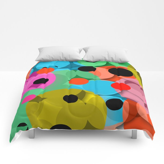 dots over dots Comforters