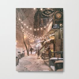 Snow - New York City - East Village Metal Print