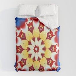 Robot Bird Mandala Comforters