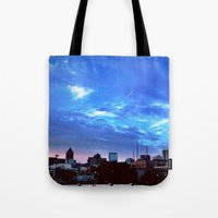 atlanta Tote Bags featuring Atlanta.  by calvin./CHANCE