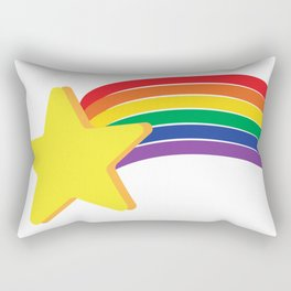 LGBTQ Shooting Star Rectangular Pillow
