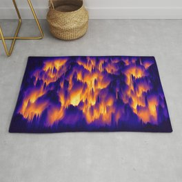 Abstract Waves Rug