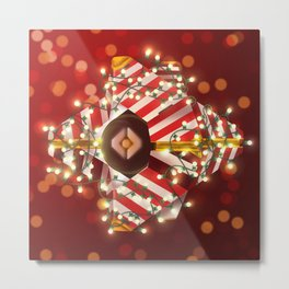 Jolly Ghost Shell Metal Print