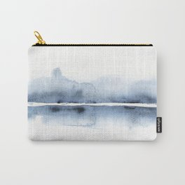 Grey Abstract Horizon Carry-All Pouch