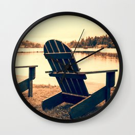 At the Lake Wall Clock