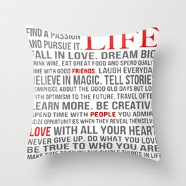 All about life Throw Pillow