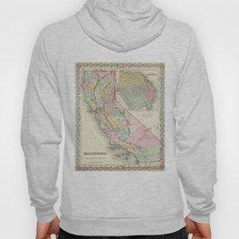 Vintage Map of California (1856) Hoody