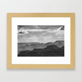 Helicopter on the Grand Canyon | Watchtower Point | Arizona (Usa) Framed Art Print