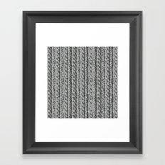 Grey Knit feeling Framed Art Print