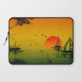Japanese Sunset Laptop Sleeve