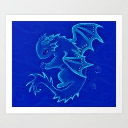 Water Dragon of the Deep Art Print