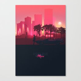 Hotline Miami XL Canvas Print
