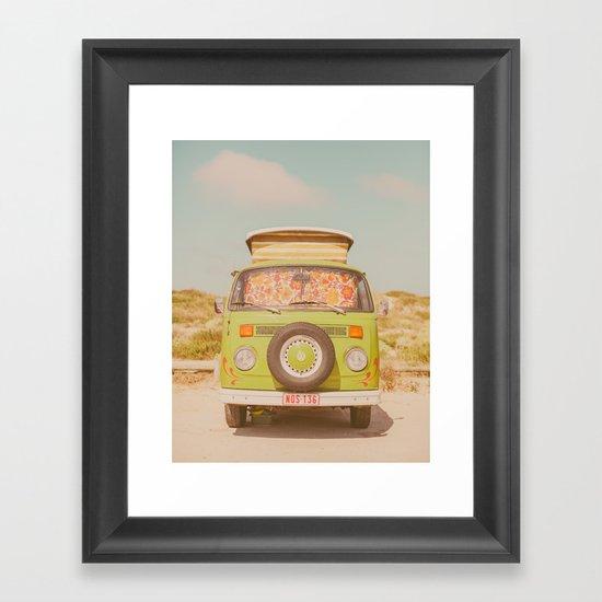 let's ride through europe Framed Art Print